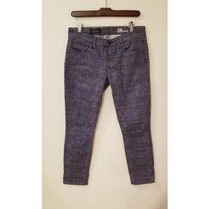 Jcrew toothpick ankle checked pants